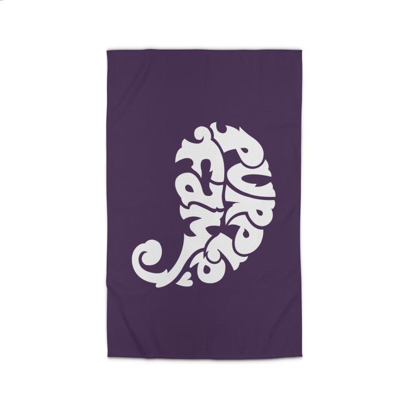 Purple Fam Logo (white print) Home Rug by Modernist Press's Artist Shop