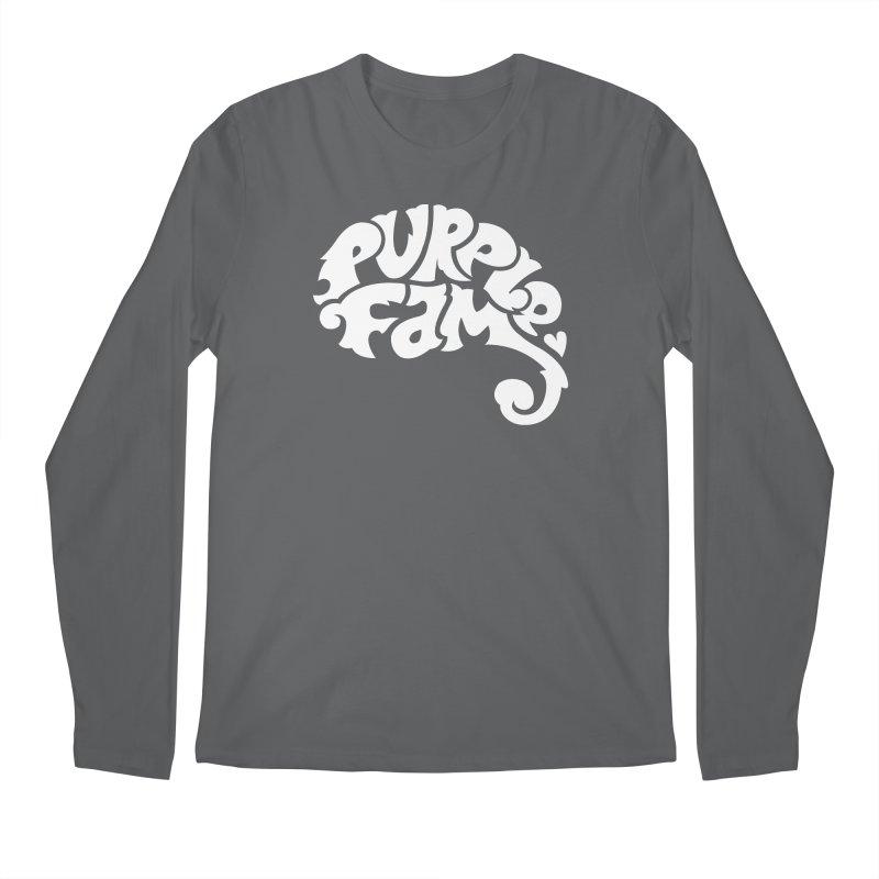 Purple Fam Logo (white print) Men's Longsleeve T-Shirt by Modernist Press's Artist Shop