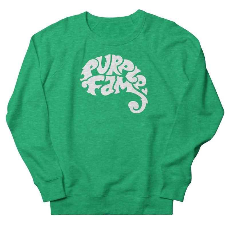 Purple Fam Logo (white print) Women's Sweatshirt by Modernist Press's Artist Shop