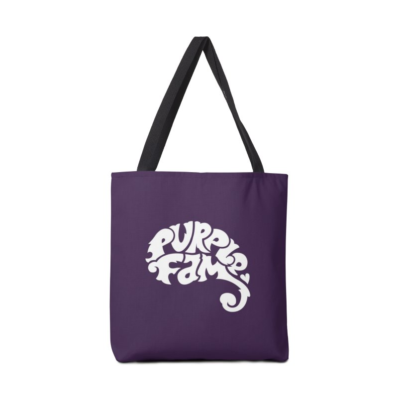 Purple Fam Logo (white print) Accessories Bag by Modernist Press's Artist Shop