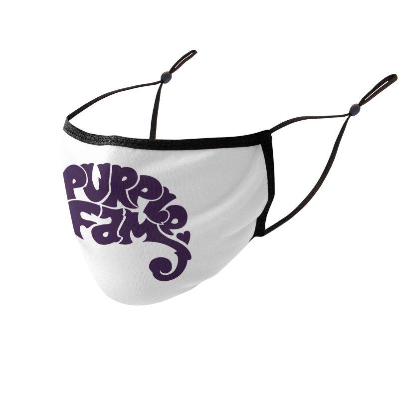 Purple Fam Logo (purple print) Accessories Face Mask by Modernist Press's Artist Shop