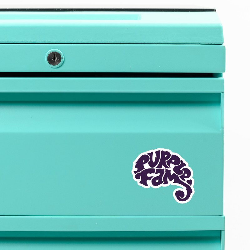 Purple Fam Logo (purple print) Accessories Magnet by Modernist Press's Artist Shop