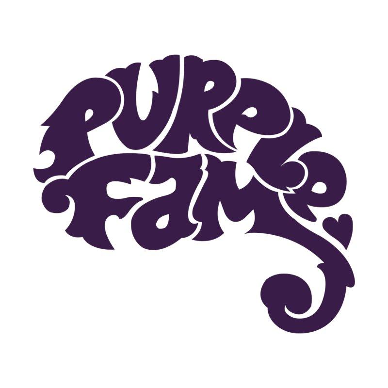 Purple Fam Logo (purple print) Home Mounted Aluminum Print by Modernist Press's Artist Shop