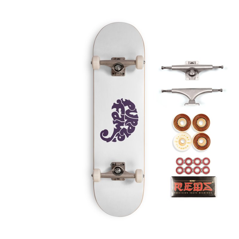Purple Fam Logo (purple print) Accessories Skateboard by Modernist Press's Artist Shop