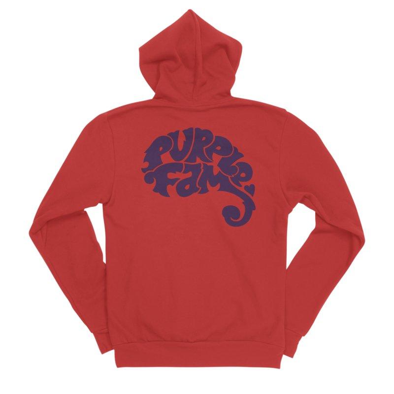 Purple Fam Logo (purple print) Women's Zip-Up Hoody by Modernist Press's Artist Shop