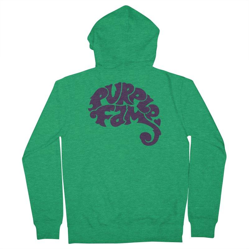 Purple Fam Logo (purple print) Men's Zip-Up Hoody by Modernist Press's Artist Shop