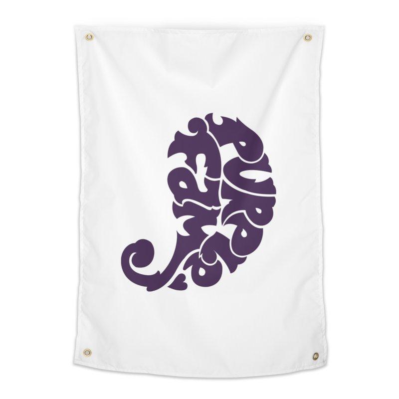 Purple Fam Logo (purple print) Home Tapestry by Modernist Press's Artist Shop