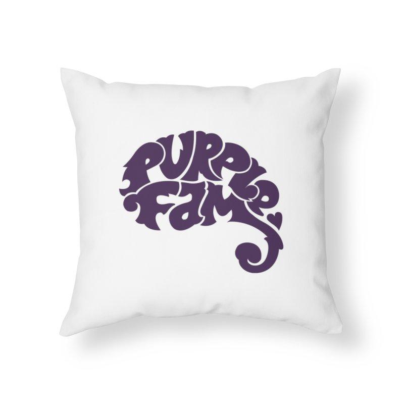 Purple Fam Logo (purple print) Home Throw Pillow by Modernist Press's Artist Shop