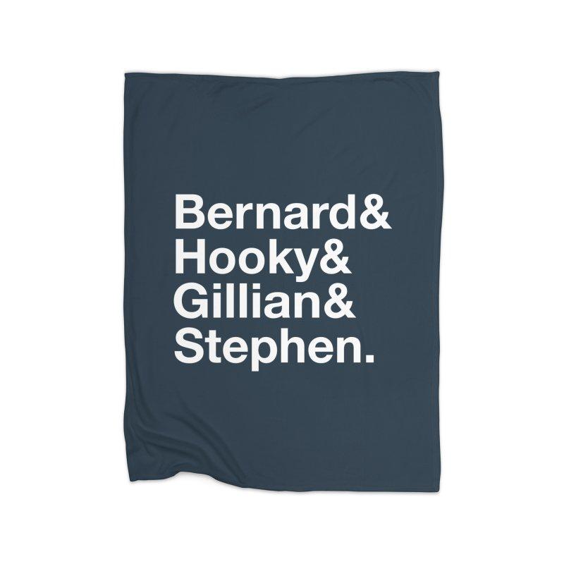 New Order Text Design (white print) Home Blanket by Modernist Press's Artist Shop