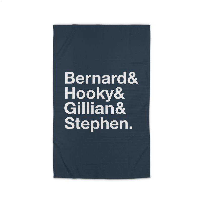 New Order Text Design (white print) Home Rug by Modernist Press's Artist Shop