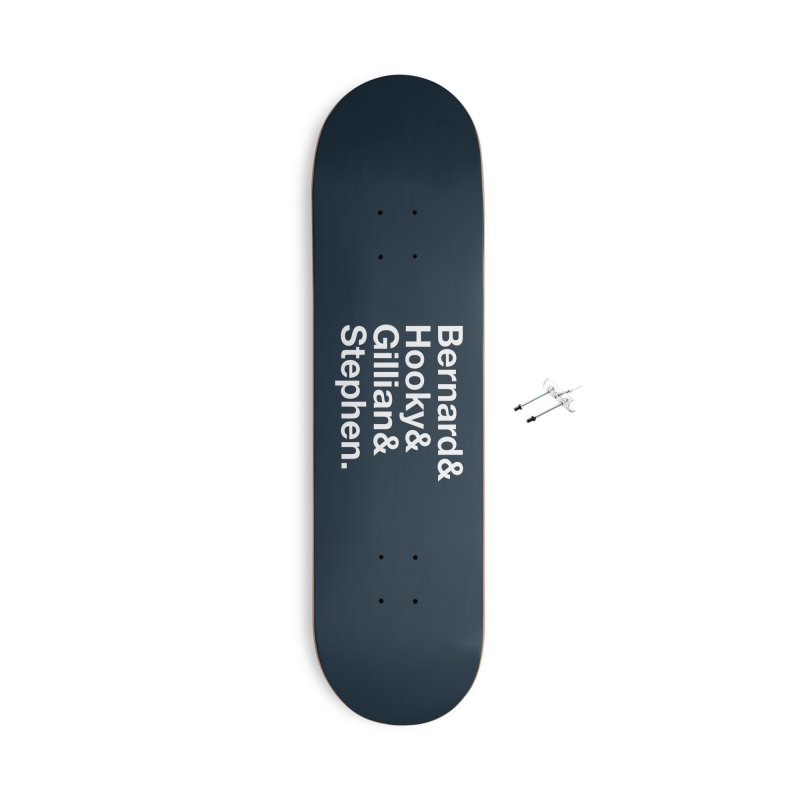 New Order Text Design (white print) Accessories Skateboard by Modernist Press's Artist Shop