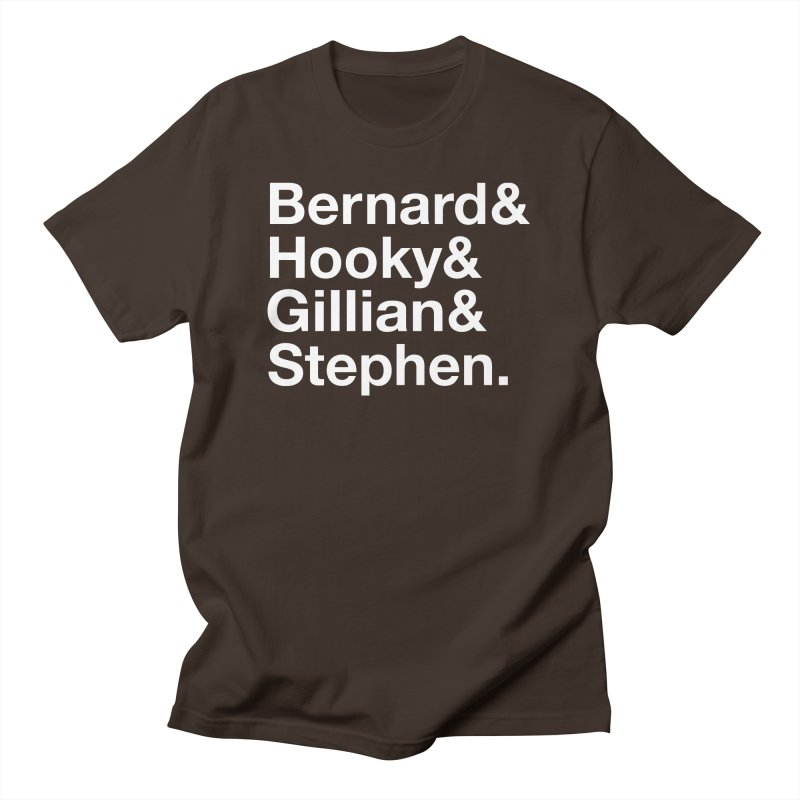 New Order Text Design (white print) Men's T-Shirt by Modernist Press's Artist Shop
