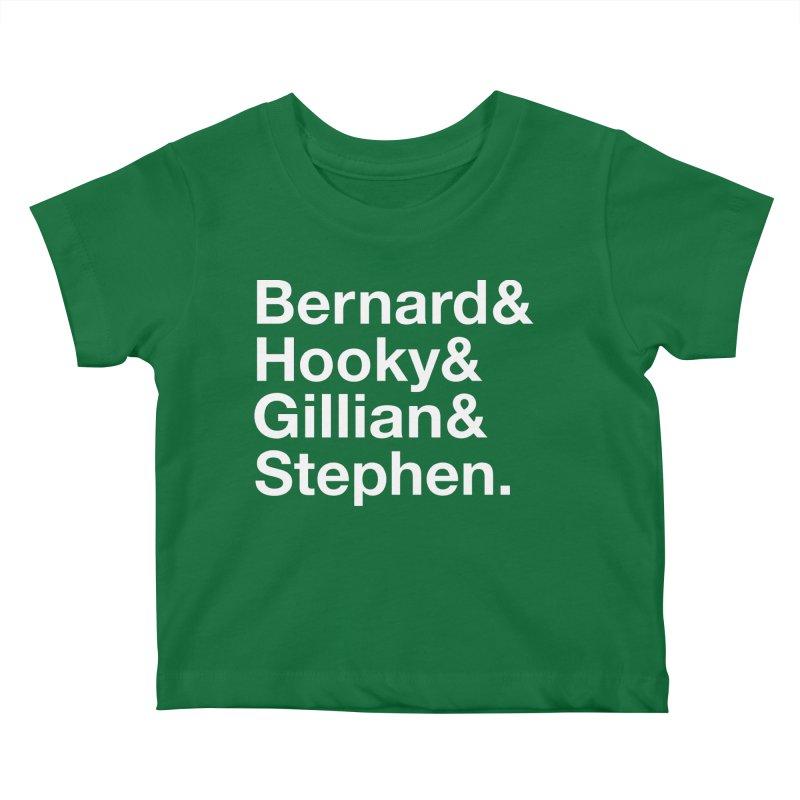 New Order Text Design (white print) Kids Baby T-Shirt by Modernist Press's Artist Shop