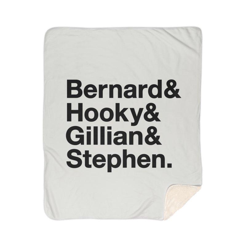 New Order Text Design (black print) Home Blanket by Modernist Press's Artist Shop