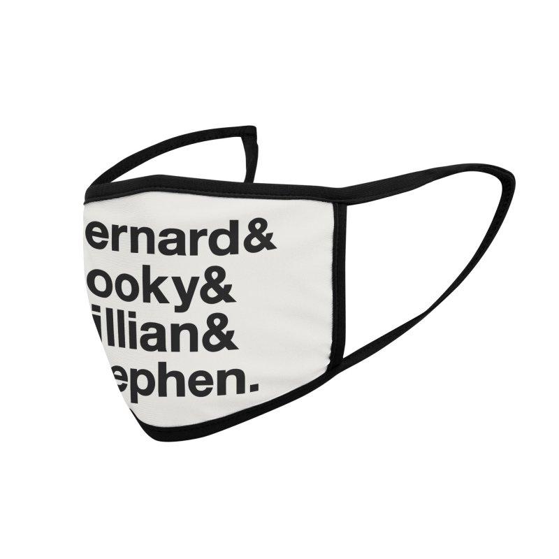 New Order Text Design (black print) Accessories Face Mask by Modernist Press's Artist Shop