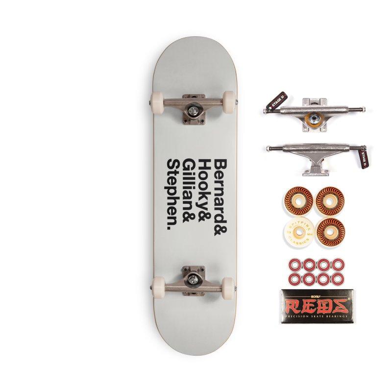 New Order Text Design (black print) Accessories Skateboard by Modernist Press's Artist Shop