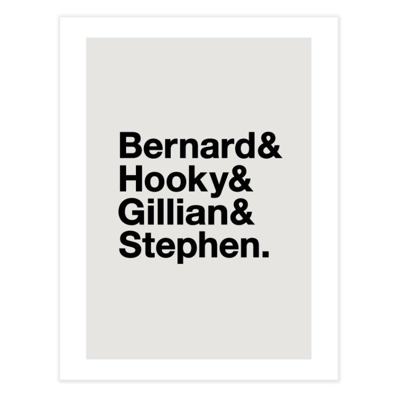 New Order Text Design (black print) Home Fine Art Print by Modernist Press's Artist Shop