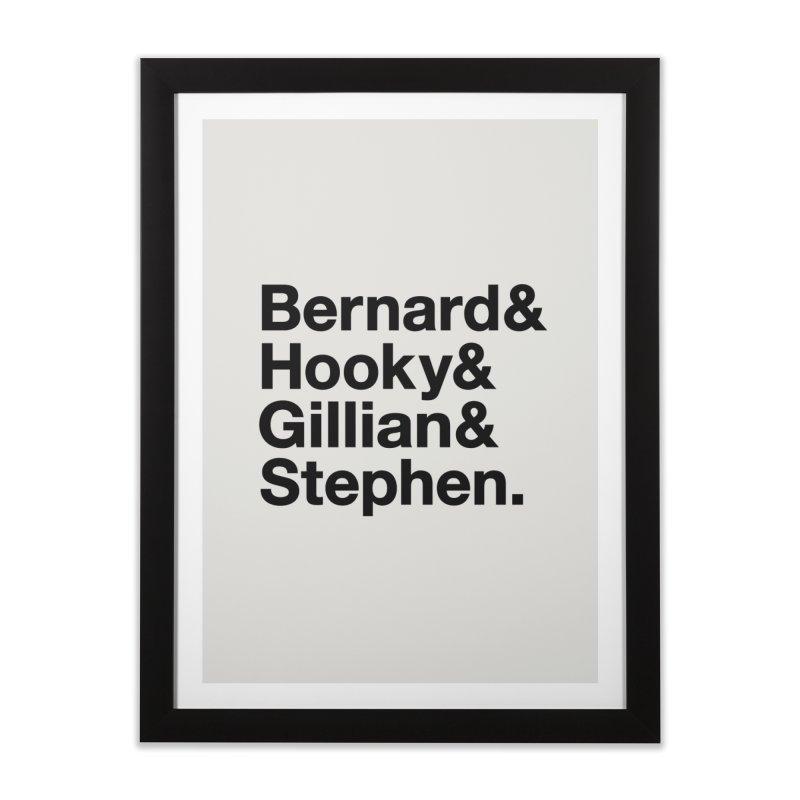 New Order Text Design (black print) Home Framed Fine Art Print by Modernist Press's Artist Shop