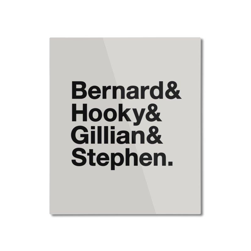 New Order Text Design (black print) Home Mounted Aluminum Print by Modernist Press's Artist Shop