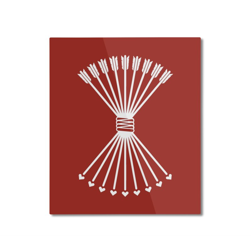 Love Armory Home Mounted Aluminum Print by Modernist Press's Artist Shop