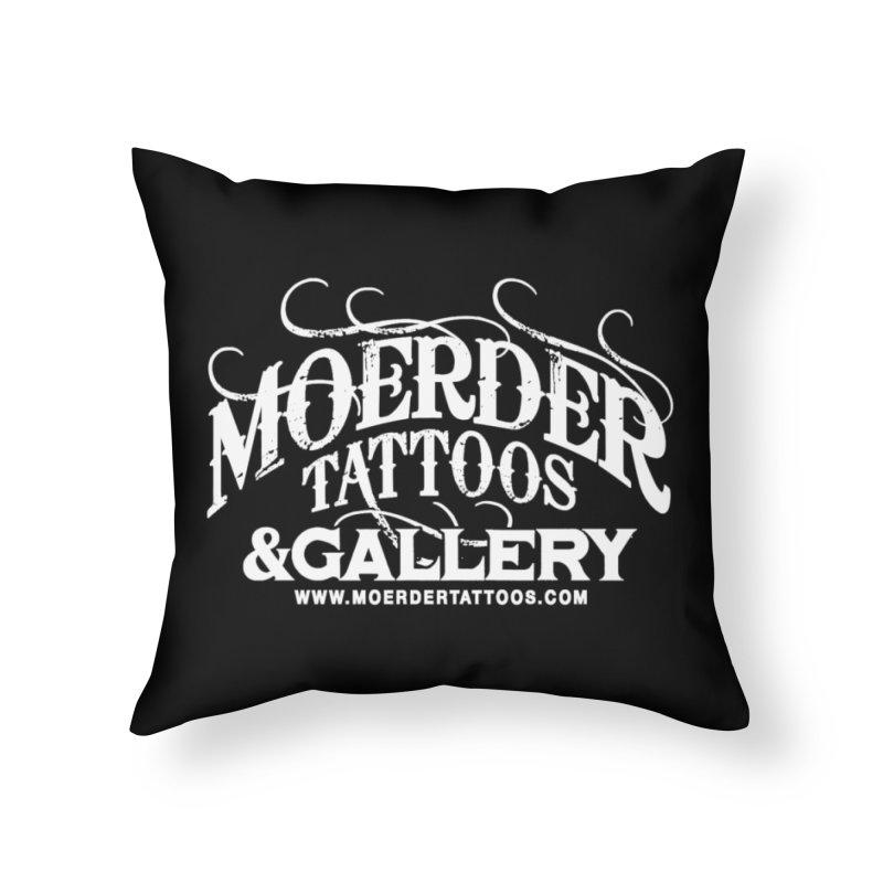 Moerder Tattoos & Gallery Shirt Home Throw Pillow by MoerderTattoosandGallery's Artist Shop