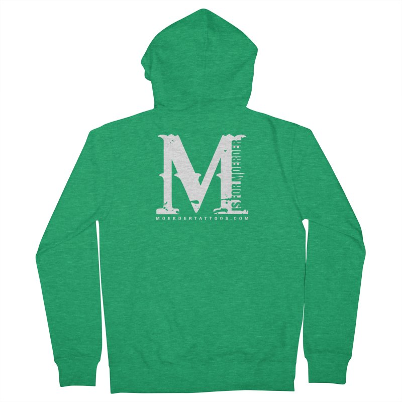 M is for Moerder Men's Zip-Up Hoody by MoerderTattoosandGallery's Artist Shop