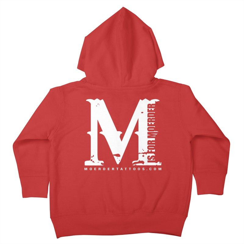 M is for Moerder Kids Toddler Zip-Up Hoody by MoerderTattoosandGallery's Artist Shop
