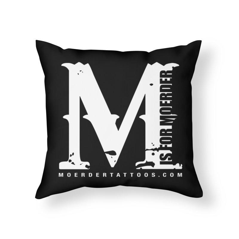 M is for Moerder Home Throw Pillow by MoerderTattoosandGallery's Artist Shop