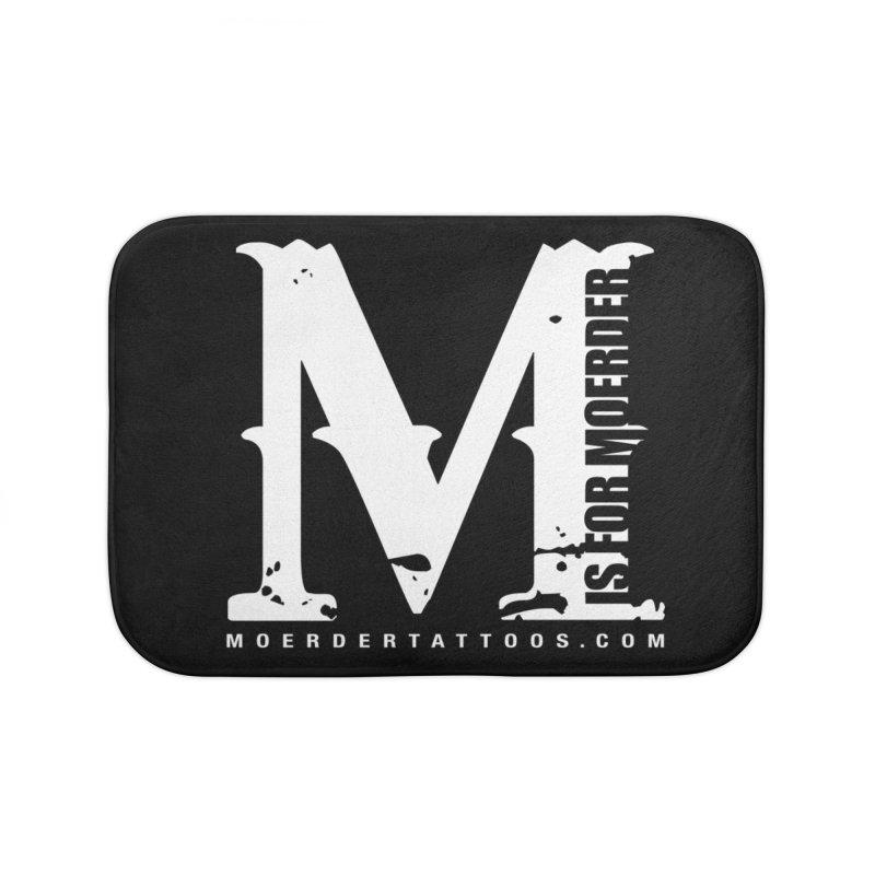 M is for Moerder Home Bath Mat by MoerderTattoosandGallery's Artist Shop