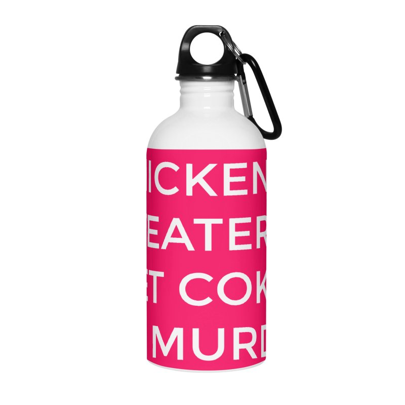 Chickens & Sweaters & Diet Coke & Murder Accessories Water Bottle by Moms And Murder Merch