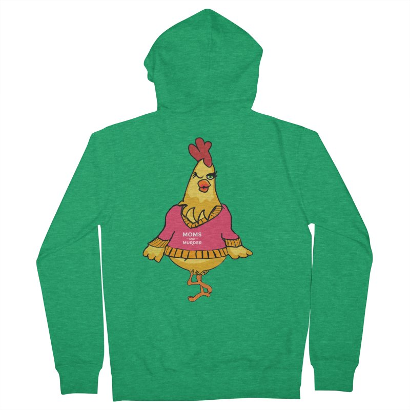 Mrs. Mother Clucker (Design by Notorious Nicki T) Men's Zip-Up Hoody by Moms And Murder Merch