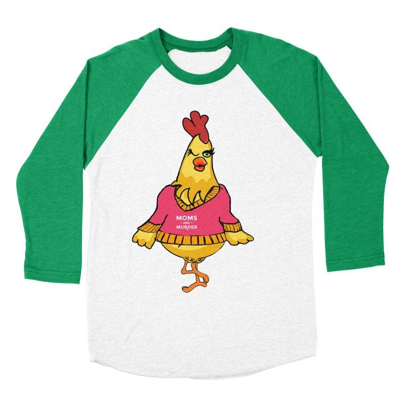 Mrs. Mother Clucker (Design by Notorious Nicki T) Men's Baseball Triblend Longsleeve T-Shirt by Moms And Murder Merch