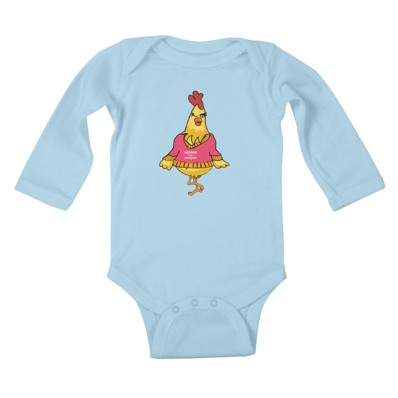 Mrs. Mother Clucker (Design by Notorious Nicki T) Kids Baby Longsleeve Bodysuit by Moms And Murder Merch