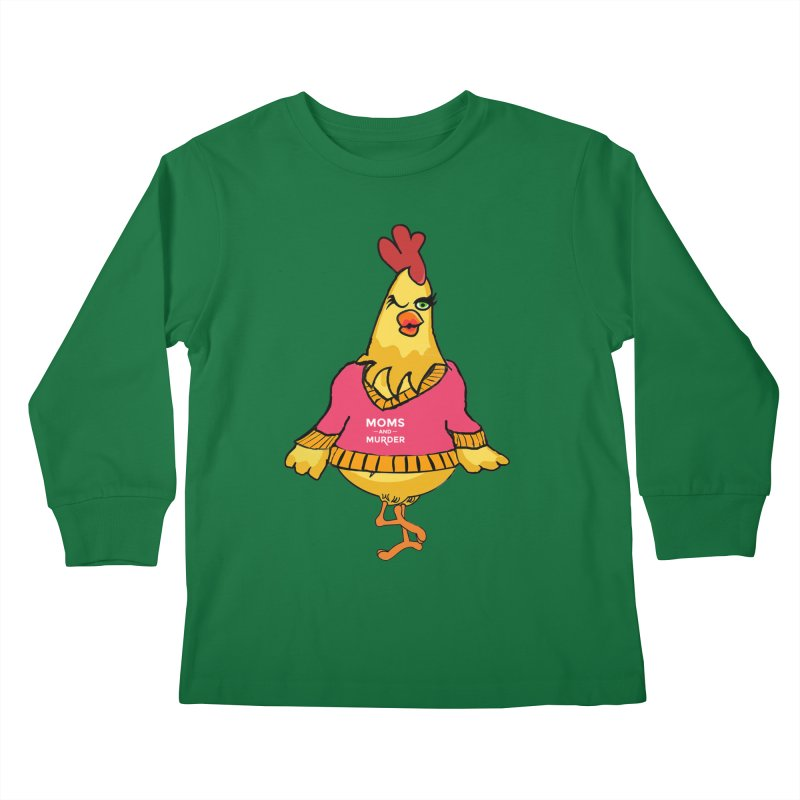 Mrs. Mother Clucker (Design by Notorious Nicki T) Kids Longsleeve T-Shirt by Moms And Murder Merch