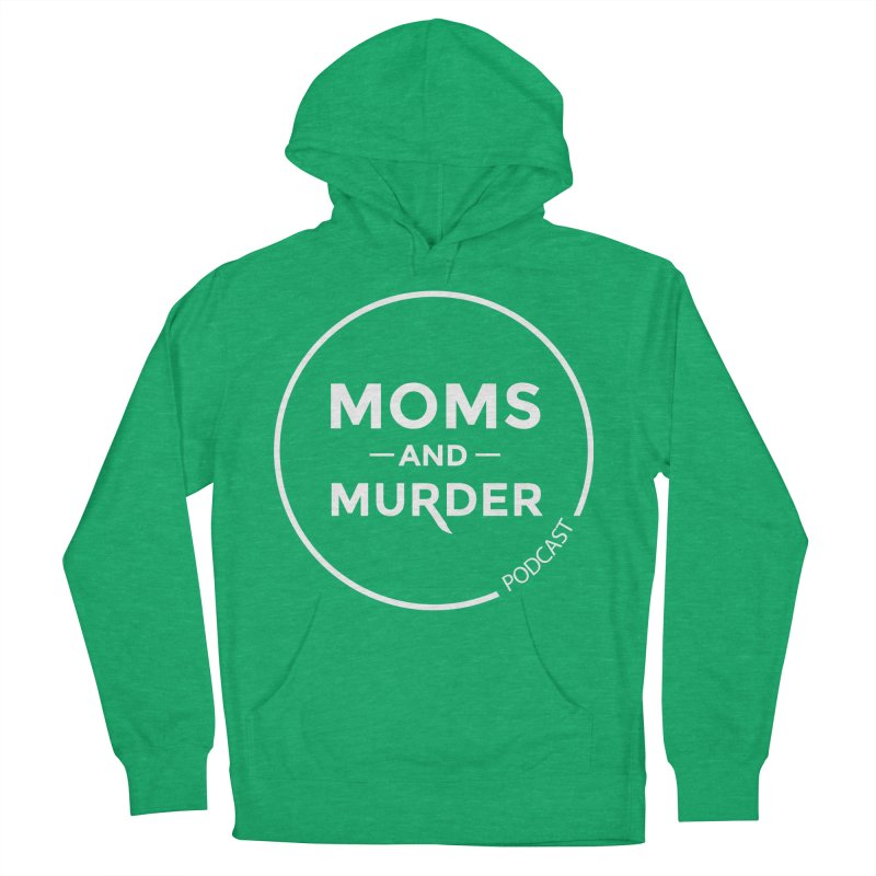 Moms and Murder Podcast Logo in Ring Men's French Terry Pullover Hoody by Moms And Murder Merch