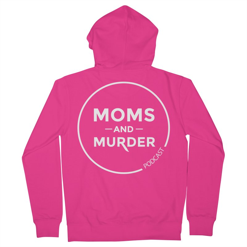 Moms and Murder Podcast Logo in Ring Men's Zip-Up Hoody by Moms And Murder Merch