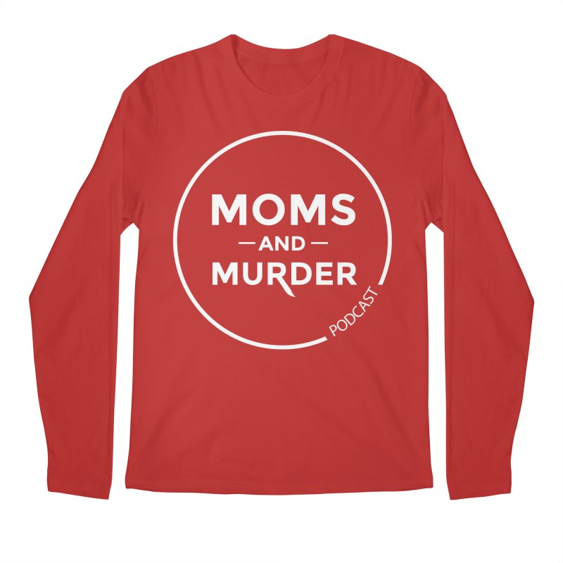 Moms and Murder Podcast Logo in Ring Men's Regular Longsleeve T-Shirt by Moms And Murder Merch