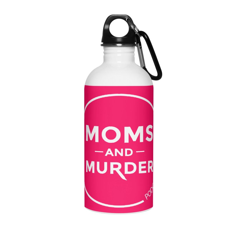 Moms and Murder Podcast Logo in Ring Accessories Water Bottle by Moms And Murder Merch