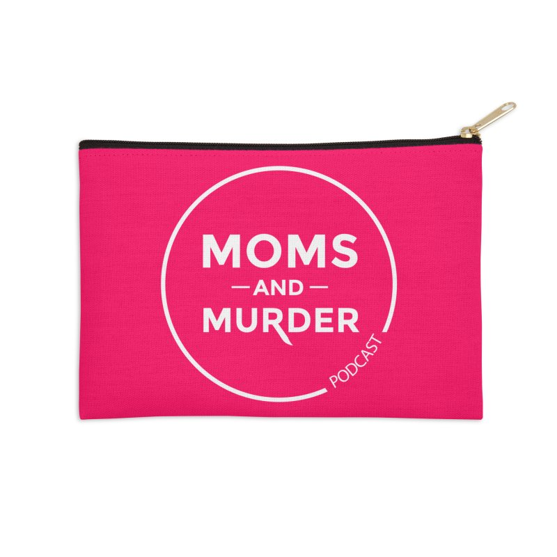 Moms and Murder Podcast Logo in Ring Accessories Zip Pouch by Moms And Murder Merch