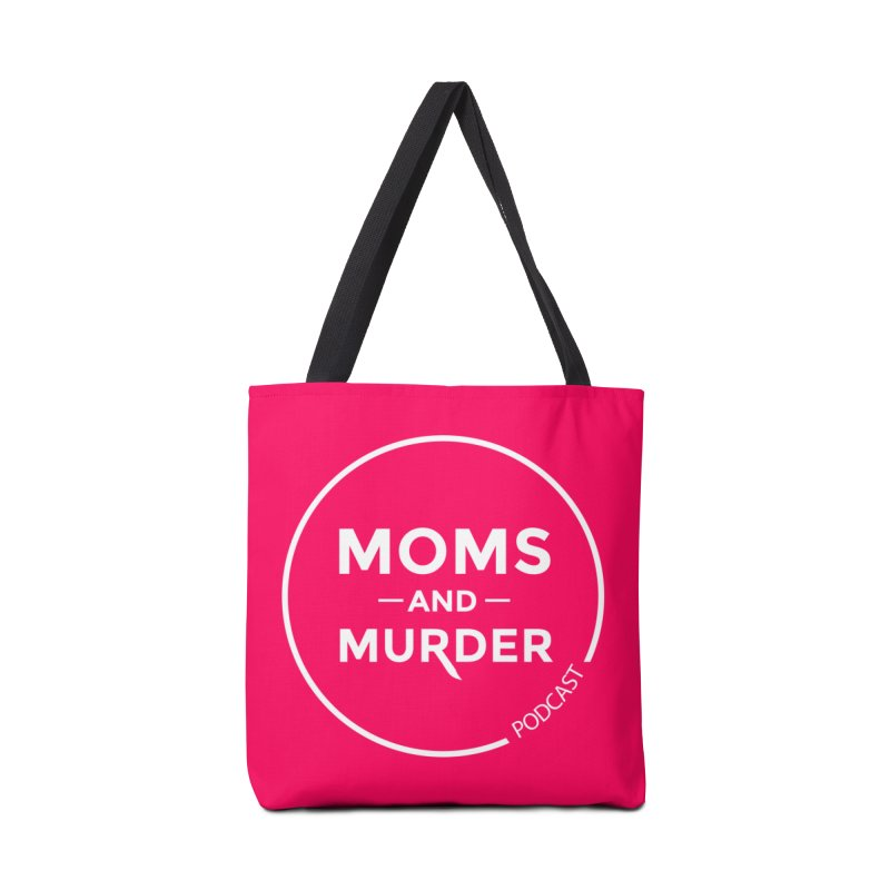 Moms and Murder Podcast Logo in Ring Accessories Tote Bag Bag by Moms And Murder Merch