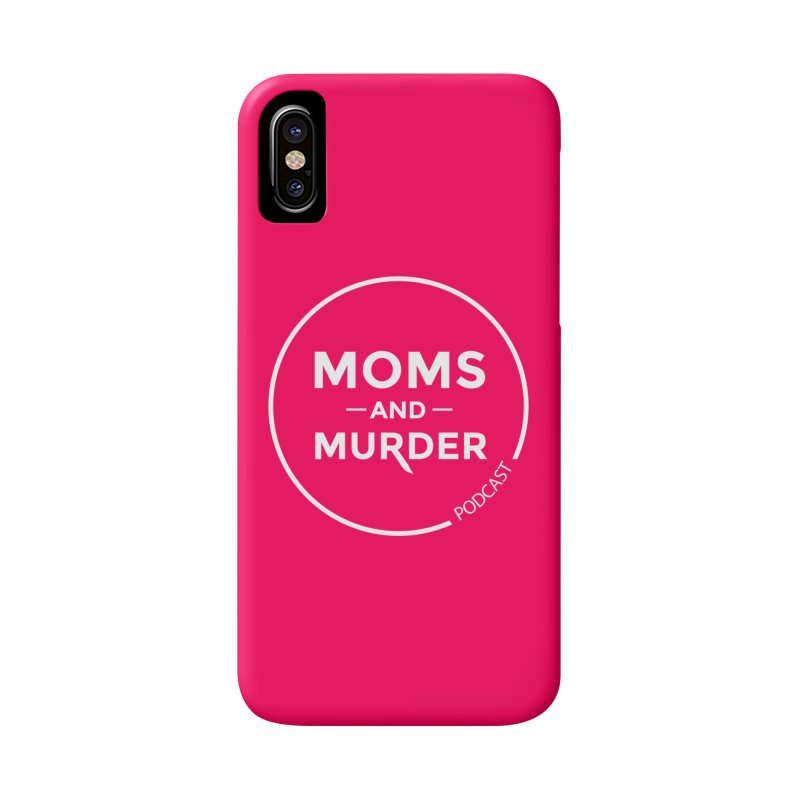 Moms and Murder Podcast Logo in Ring Accessories Phone Case by Moms And Murder Merch