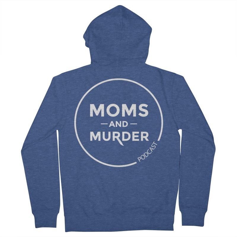 Moms and Murder Logo Ring- Dark Gray Men's Zip-Up Hoody by Moms And Murder Merch