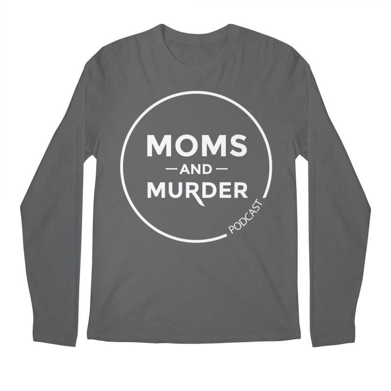 Moms and Murder Logo Ring- Dark Gray Men's Longsleeve T-Shirt by Moms And Murder Merch