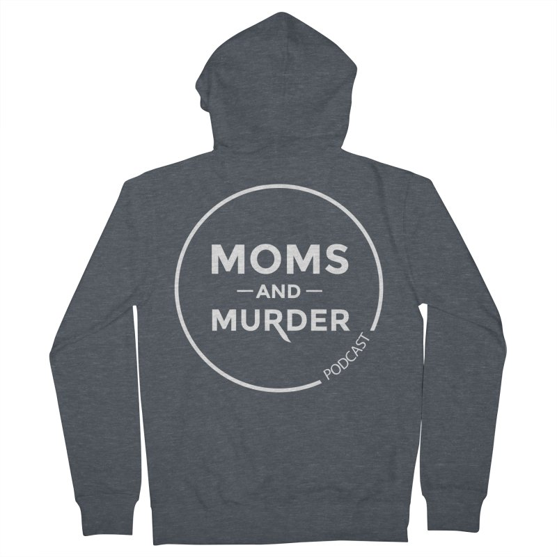 Moms and Murder Logo Ring- Dark Gray Men's French Terry Zip-Up Hoody by Moms And Murder Merch