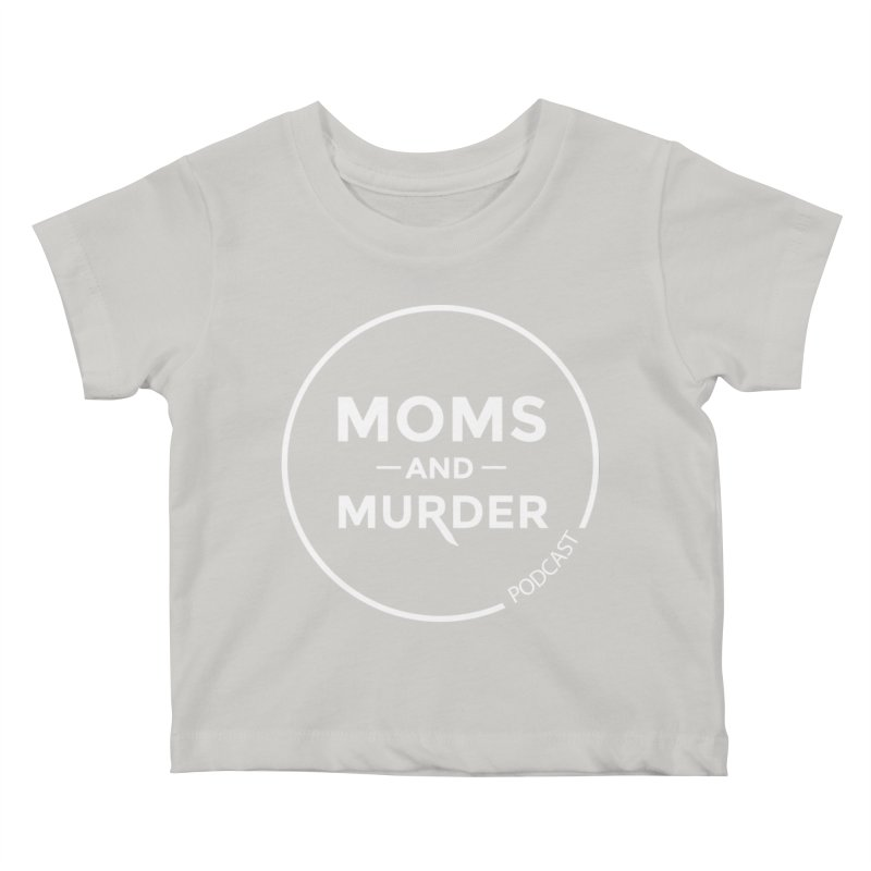 Moms and Murder Logo Ring- Dark Gray Kids Baby T-Shirt by Moms And Murder Merch