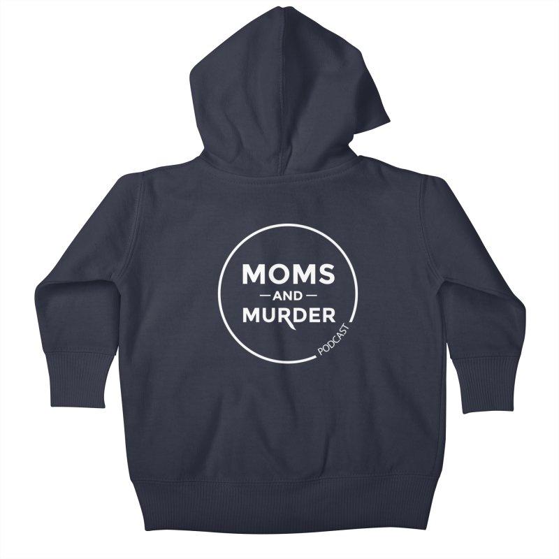 Moms and Murder Logo Ring- Dark Gray Kids Baby Zip-Up Hoody by Moms And Murder Merch