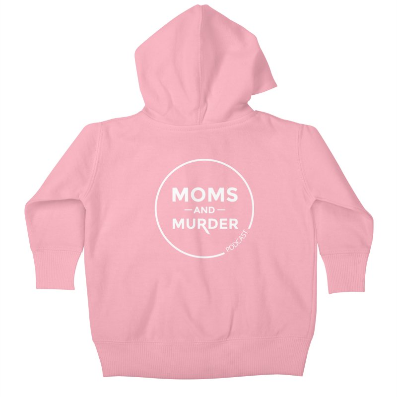 Moms and Murder Logo Ring- Dark Gray Kids Baby Zip-Up Hoody by Moms And Murder Merch