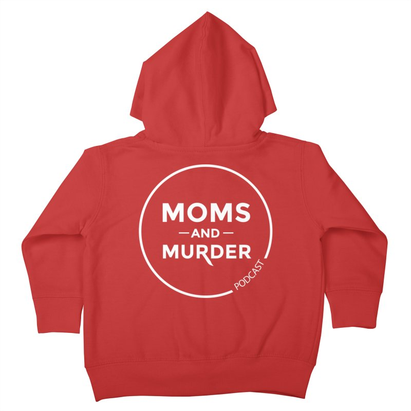 Moms and Murder Logo Ring- Dark Gray Kids Toddler Zip-Up Hoody by Moms And Murder Merch