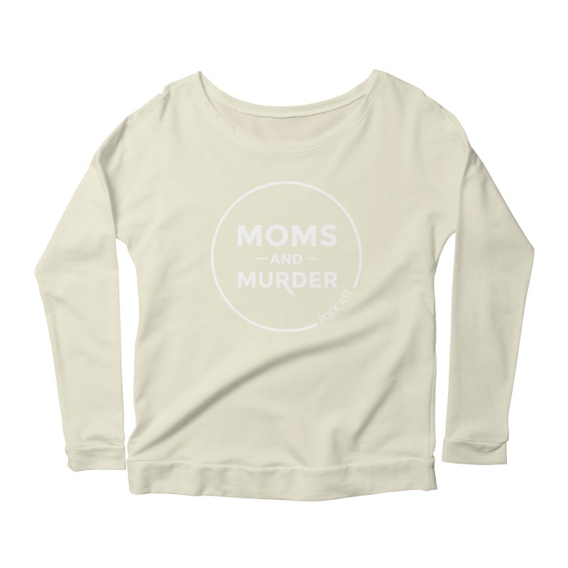 Moms and Murder Logo Ring- Dark Gray Women's Longsleeve Scoopneck  by Moms And Murder Merch