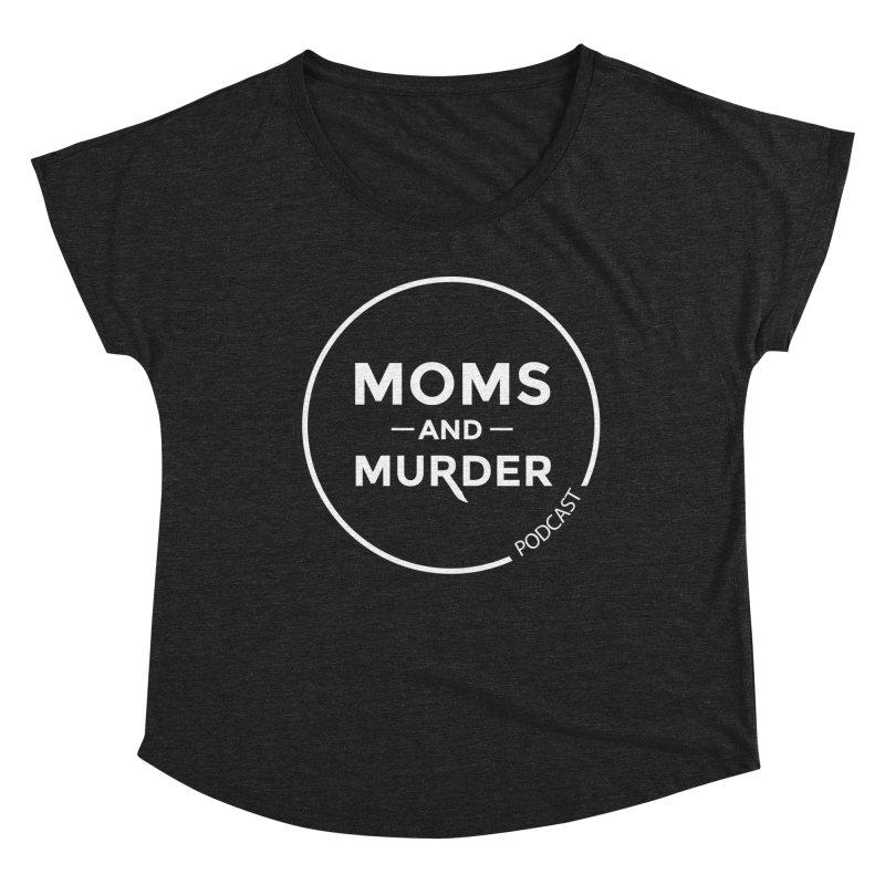 Moms and Murder Logo Ring- Dark Gray Women's Scoop Neck by Moms And Murder Merch